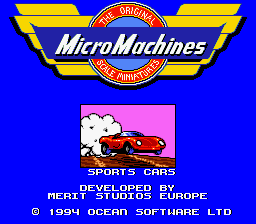 Micro Machines Title Screen